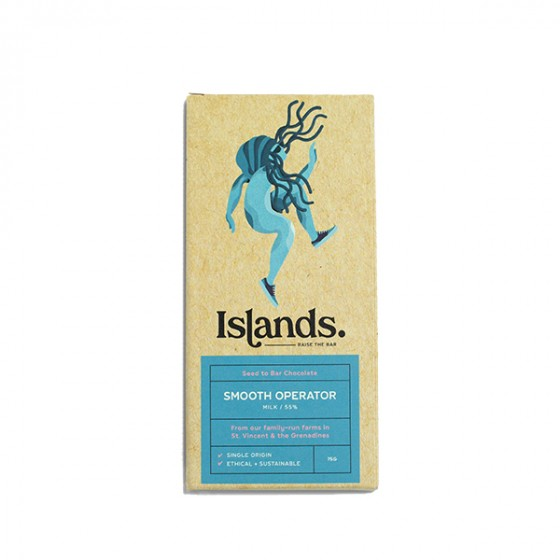 Islands Chocolate - Milk Chocolate 55% (75g) - Smooth Operator - Seed to Bar- Sustainable, Ethical and Quality Milk Chocolate